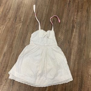 Girl's Halter Top White Dress